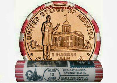 4-2009 P Lincoln Stamp PROFESSIONAL LIFE PENNY ROLLS Cent Coin Lot Set UNC wheat