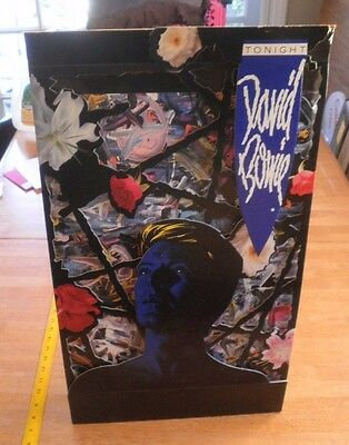 """David Bowie Tonight 3D foldout counter Standee large 14x21"""" RARE 1984 storesONLY"""