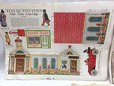 Vintage 1915-1950s TINYTOWN CUTOUTS toys MUFFETS SHREDDED WHEAT CUTOUT MASK 1514