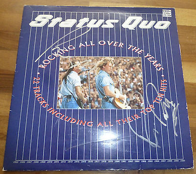 STATUS QUO A Vinyl Disc Cover-HAND Signed By The Band With a COA & RARE
