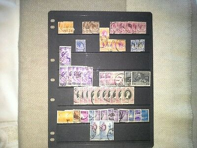 Singapore Malaya - Selection of Used Stamps Issued Between 1948 and 1955