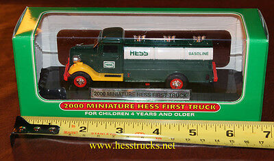 "2000 Hess Miniature ""First Hess Truck"" 100% Mint-in-Box  Hess Mini Truck"