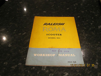 Raleigh Workshop Manual. Roma  Rs2