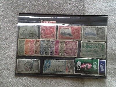 Barbados - Selection of Used Stamps Issued Between 1892 and 1966