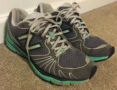 New Balance Gray Teal Womens Running Shoes 8M