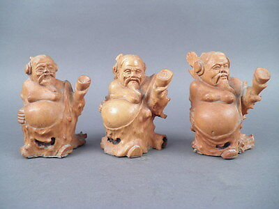 Fine Old Chinese Carved Wood Sculpture carving Sculpture Scholar Art #7