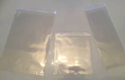 Cellophane Clear Bags With Self Seal Strip - Choose Size & Quantity
