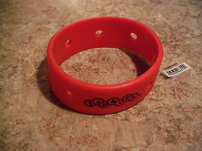 RARE JIBBITZ SET OF FOUR (4) RED BRACELETS FOR SHOE CHARMS for CROCS  NWT