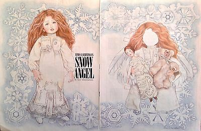 Snow Angel Paper Doll by Sue Shanahan, Uncut 1993 Mag. PD
