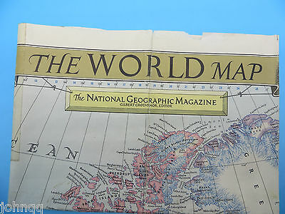"Vintage 1951 National Geographic Map - The World 26"" x 40"""