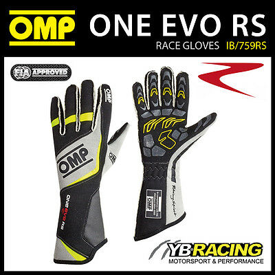 IB/759RS OMP ONE EVO RS HIGH SPEC RACE GLOVES for PROFESSIONAL MOTORSPORT DRIVER