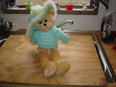 """Chantilly Lane 22""""  Musical Animated Bear~Thats What Friends Are For~Mint Green"""