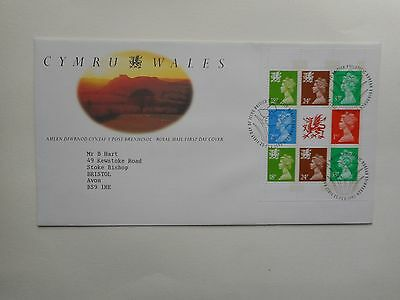 GB 1992 Wales booklet pane First Day Cover