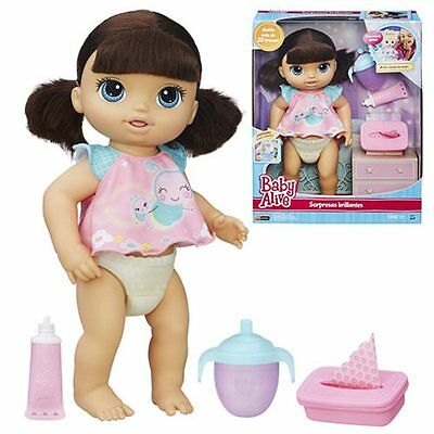 Baby Alive Twinkles n Tinkles Brunette interactive Doll - New in hand