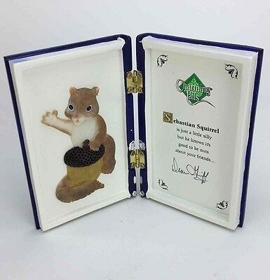 Charming Tails Sebastian Squirrel Decorative Book Friendship Signed Decor Blue