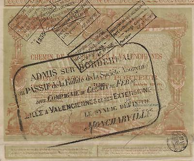 FRANCE RAILWAY COMPANY stock certificate 1872 OLD