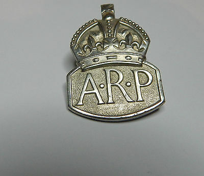 WW2 Hallmarked Silver ARP badge Mens buttonhole london hallmark