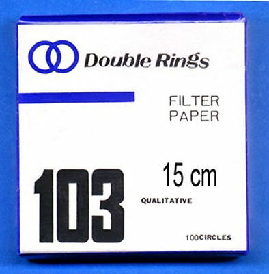 FILTER PAPER 15 cm 100 DISCS QUALITATIVE SLOW 103