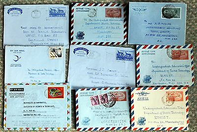 Selection of Airletters / Aerogrammes Africa & Indian Sub-Continent Used (Le2)