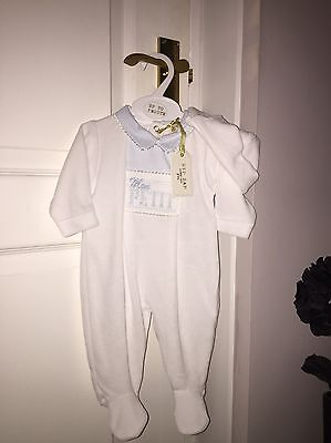 Baby Boys Velour Outfit ZIP ZAP 0-3 Months BNWT