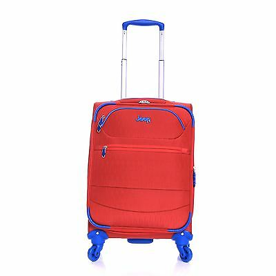 Jeep 55cm Travel Cabin Wheeled Holdall Suitcase Hand Luggage Case Bag