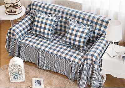 100% Cotton L-Shaped Sofa Lounge Couch Case Protector for  2  seater ssqh L