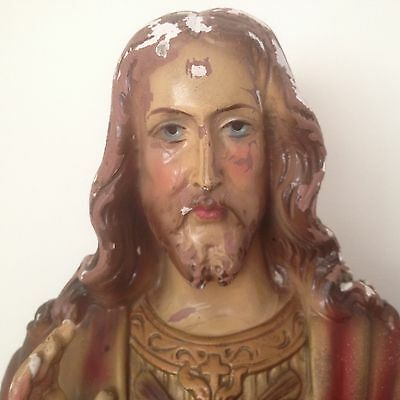 Early 20th Century French Plaster Bust of Jesus Christ