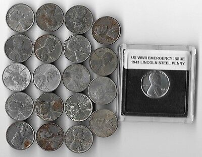 Rare Very Old Antique WWII US Wartime Collection 1943 Lincoln Steel Coin War Lot