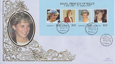Barbados Stamps First Day Cover 1998 Princess Diana Benham Ltd Edn Collection
