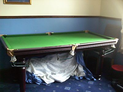 BCE Snooker Dining Table 6ft X 3ft With Turned Legs & Ball Running Rails