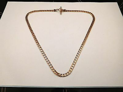 9ct 375  9kt 9k Gold Curb 20 inch Necklace