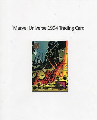 1994 Marvel Universe Trading Card #70 Fall from Grace - Hellspawn