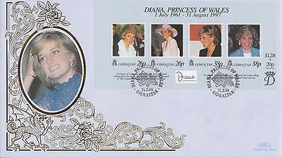Gibraltar Stamps First Day Cover 1998 Princess Diana Benham Ltd Edn Collection