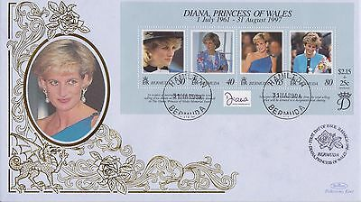 Bermuda Stamps First Day Cover 1998 Princess Diana Benham Ltd Edn Collection