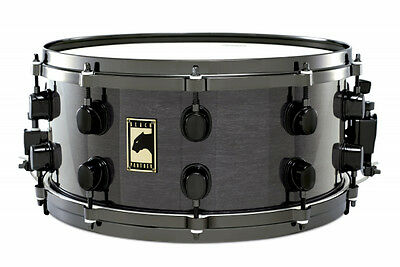 "Mapex Black Panther Snare Drum ""High Gloss Black"" mit Tama Snare Ständer"