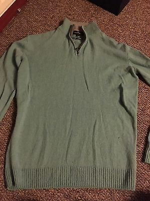 Blue Harbour Green Men's Lambswool Jumper Size  L
