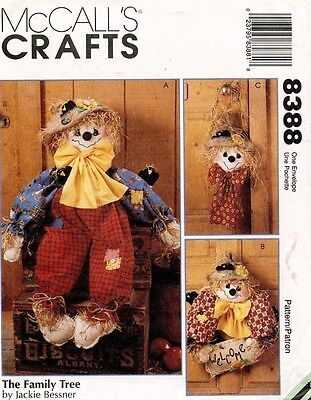 McCall's Scarecrows  Pattern 8388 UNCUT