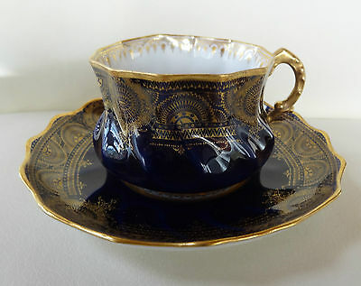 Fine Porcelain Cobalt Blue French Cup and Saucer with Sevres Mark #2