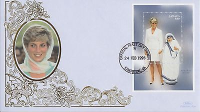 Jamaica Stamps First Day Cover 1998 Princess Diana Benham Ltd Edn Collection