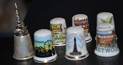 7 Thimbles mainly Blackpool & Fleetwood related (T656)