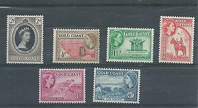 Gold Coast Stamps. QEII Coronation plus others MH. (Y328)