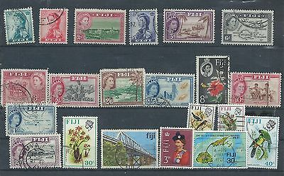 Fiji stamps. Early QEII used lot. (Y152)