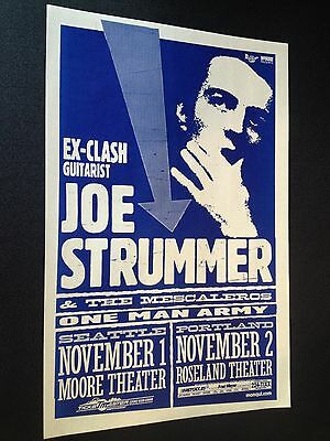 Joe Strummer The Clash Original Mike King Portland Punk Flyer Gig Concert Poster