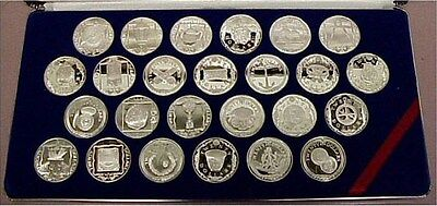 1985 Silver Treasure Coins Of The Caribbean 25 Coin Proof Set