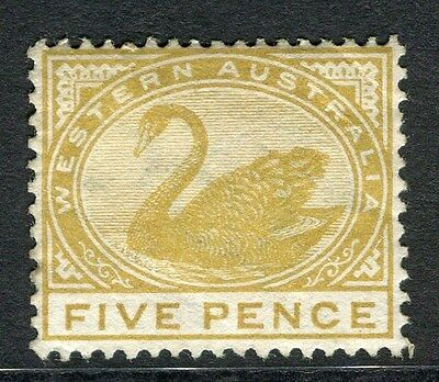 WESTERN AUSTRALIA;  1890s early Swan type Mint hinged 5d. value