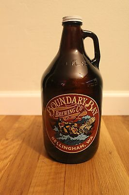 Beer Growler 64oz - Glass - from Boundary Bay Brewing Company