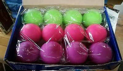 Champion Sports Lacrosse Ball Neon Blend - 12 Pack - Green, Pink, Purple
