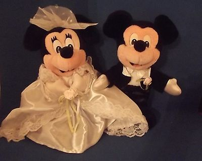 Disney Mickey Mouse And Minnie Mouse Wedding Plush Bride And Groom
