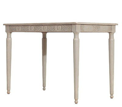"45"" w Amanda Desk pine cloud gray wash hand crafted unique design"
