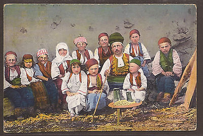 Austria / Bosnia. 1916. Postcard Of Man With A Long Pipe And Eleven Children. Do